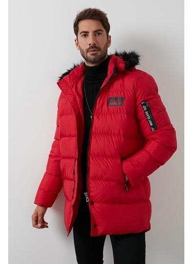 Buratti Buratti Ekstra Slim Fit Erkek Mont 45619K5129 Kırmızı